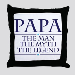 Papa Man Myth Legend Throw Pillow