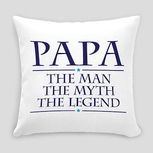 Papa Man Myth Legend Everyday Pillow