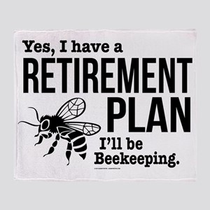 Beekeeping Retirement Throw Blanket