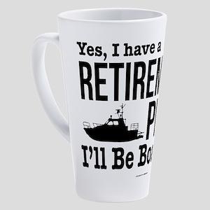 Boating Retirement 17 oz Latte Mug