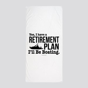 Boating Retirement Beach Towel