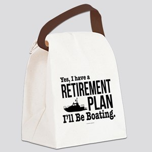 Boating Retirement Canvas Lunch Bag