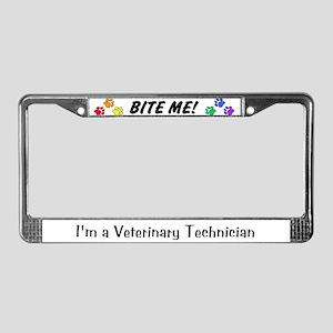 License Plate Frame - BITE ME! design Alt. font