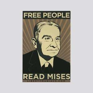 Free People Read Mises Rectangle Magnet