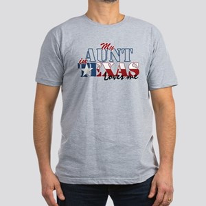 My Aunt in TX Men's Fitted T-Shirt (dark)