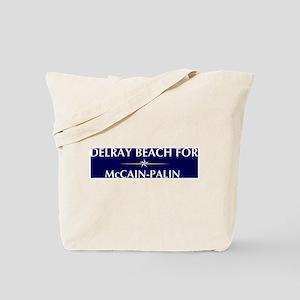 DELRAY BEACH for McCain-Palin Tote Bag