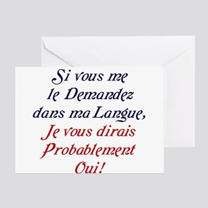 French language greeting cards cafepress the french greeting cards m4hsunfo