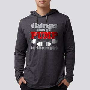 Bodybuilding Pump In The Night Mens Hooded Shirt