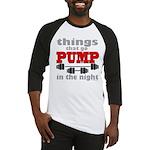 Bodybuilding Pump In The Night Baseball Tee