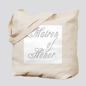 Classy Grays Matron of Honor Tote Bag