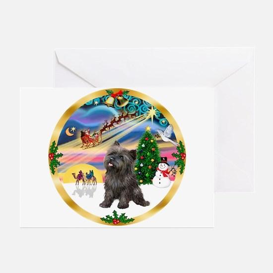 XmasMagic/Cairn Ter #21 Greeting Cards (Pk of 10)