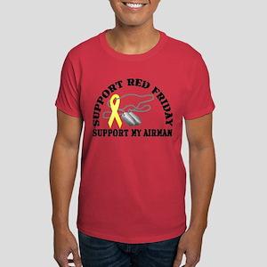 Support Red Friday (Airman) Dark T-Shirt