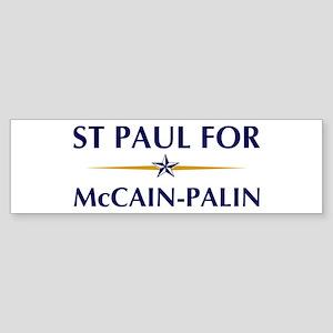 ST PAUL for McCain-Palin Bumper Sticker