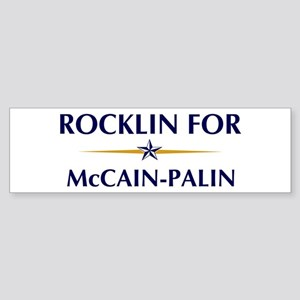 ROCKLIN for McCain-Palin Bumper Sticker