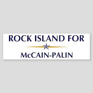 ROCK ISLAND for McCain-Palin Bumper Sticker