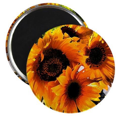 """Sunflower Dream 2.25"""" Magnet (100 pack)"""