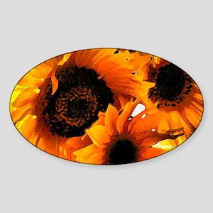 Sunflower Dream Oval Sticker