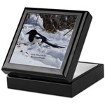 Black Billed Rocky Mountain Magpie Keepsake Box