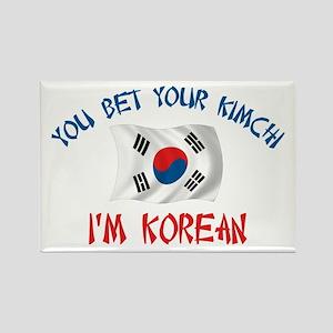 Korean Kimchi Rectangle Magnet