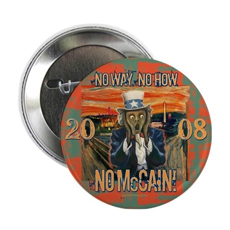 "Anti McCain Scream 2.25"" Button"
