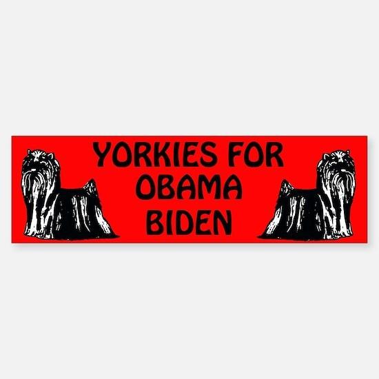 yorkie politics Bumper Bumper Bumper Sticker