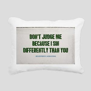 judge Rectangular Canvas Pillow