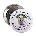 "Clumber Spaniel 2.25"" Button"