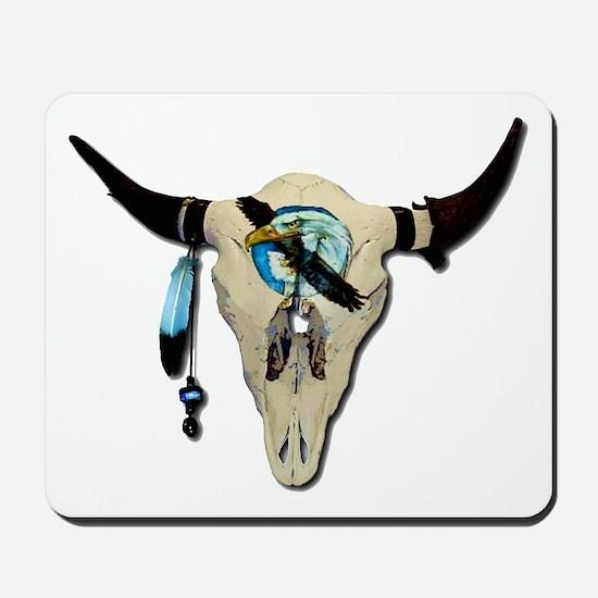 Steer Skull Mousepad