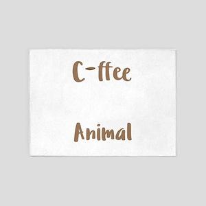 Coffee Lover Spirit Animal Coffee B 5'x7'Area Rug