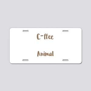 Coffee Lover Spirit Animal Aluminum License Plate