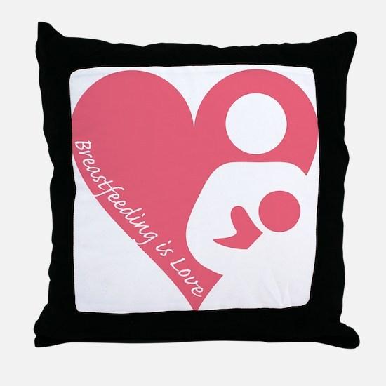 Breastfeeding is Love Throw Pillow
