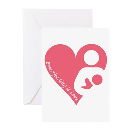 Breastfeeding is Love Greeting Cards (Pk of 10)