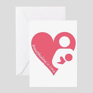 Breastfeeding is Love Greeting Card