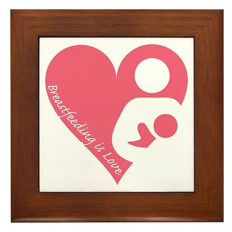 Breastfeeding is Love Framed Tile