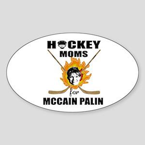 Hockey Moms for McCain Palin Oval Sticker