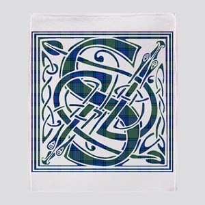 Monogram-Shaw Throw Blanket
