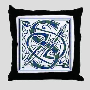 Monogram-Shaw Throw Pillow