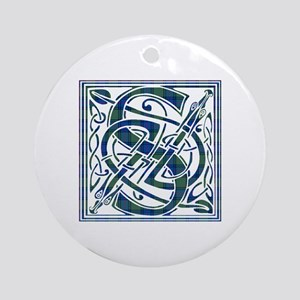 Monogram-Shaw Round Ornament