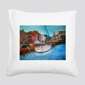 Liberty Square Canvas Pillow