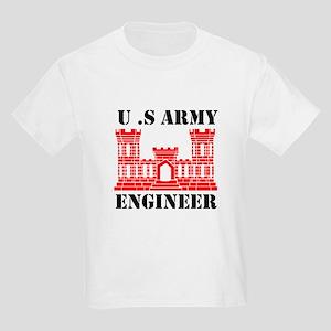 Army Engineer Castle Kids Light T-Shirt
