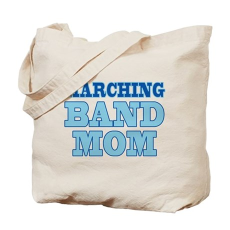 Blue Marching Band Mom Tote Bag