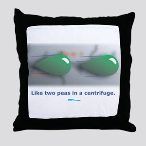 in a centrifuge Throw Pillow