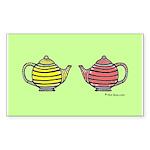Teapots! Rectangle Sticker 10 pk)