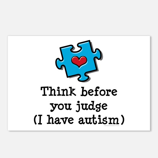 Think Before You Judge Autism Postcards 8 Pack