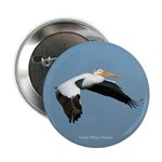 "Great White Pelican 2.25"" Button"