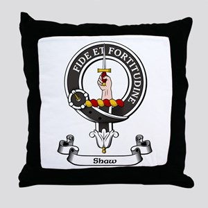 Badge-Shaw Throw Pillow