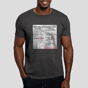 """Financial Crisis"" Dark T-Shirt"