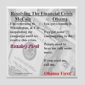 """""""Financial Crisis"""" Tile Coaster"""