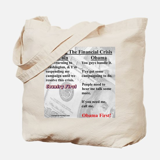 """Financial Crisis"" Tote Bag"