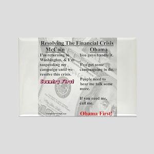 """Financial Crisis"" Rectangle Magnet"
